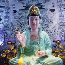 cách lập bàn thờ quan âm tại nhà màu xanh hợp mệnh mộc