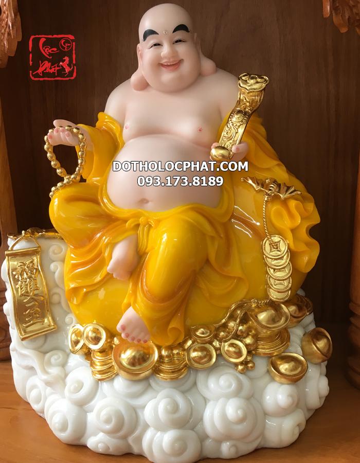 hình tượng phật di lặc màu vàng đẹp