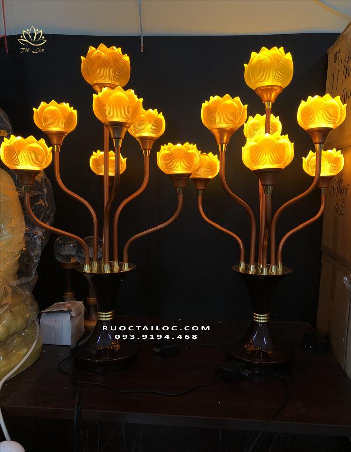 đèn thủy lưu ly 7 bông đẹp nhất
