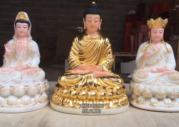 tượng ta bà tam thánh dát vàng đẹp