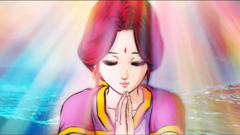 Trong vô lượng kiếp trước, Địa Tạng Vương Bồ tát vốn là một người nữ của dòng dõi Bà La Môn đã làm vô lượng điều lành, đem công đức hồi hướng cho mẹ để giúp mẹ mình thoát khỏi địa ngục