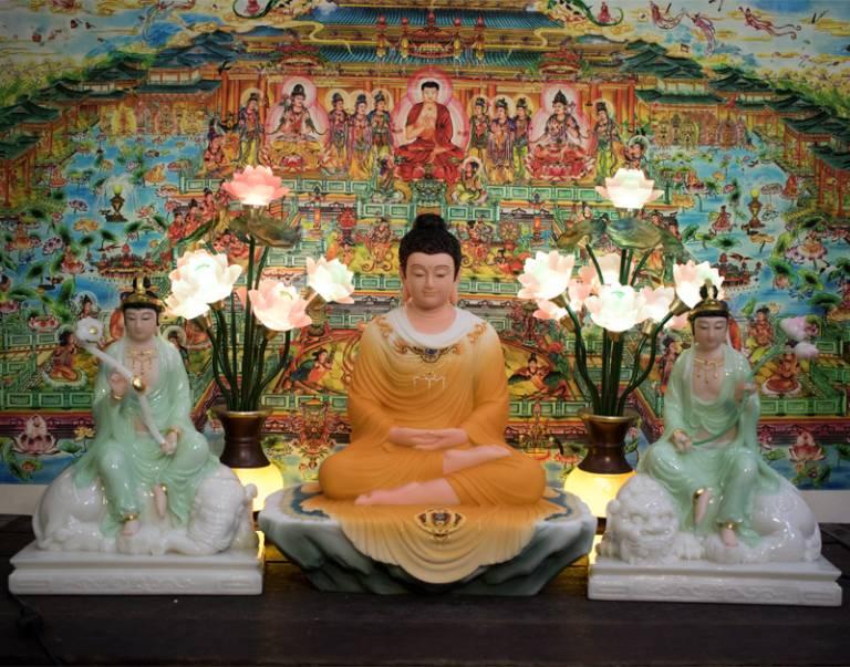 Thờ tượng Phật, Bồ tát là cách thể hiện lòng tri ân, báo áo của Phật tử với Tam bảo