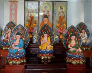 Ngũ Phương Trí Phật hay Ngũ Trí Như Lai, Ngũ Phật, Ngũ Thiền Định Phật gồm năm vị Phật là Phật Tỳ Lô Giá Na, Phật A Súc Bệ, Phật Bảo Sanh, Phật A Di Đà và Phật Bất Không Thành Tựu