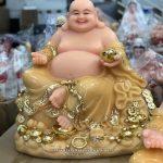 Tượng Phật Di Lặc bằng bột đá thạch anh cao 50cm
