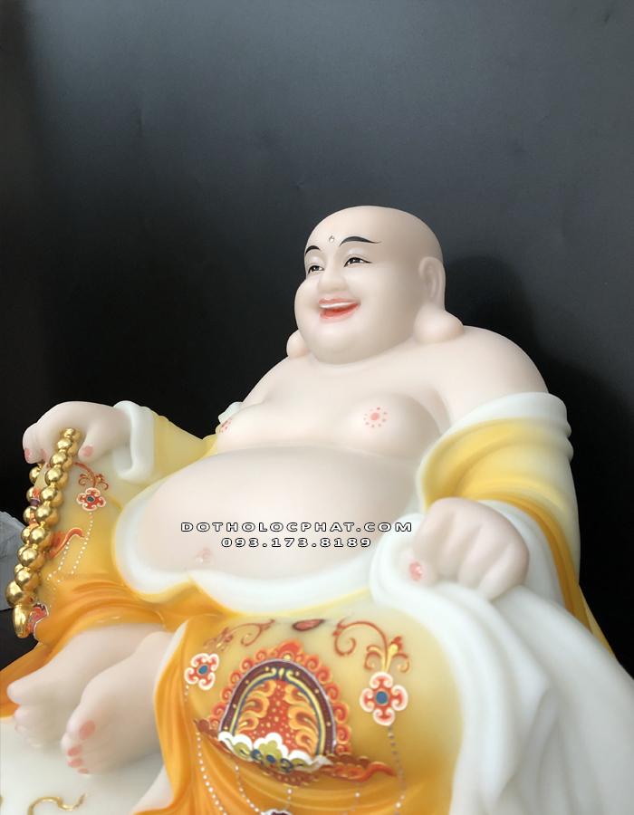 Tượng Phật Di Lặc túi tiền vẽ gấm vàng